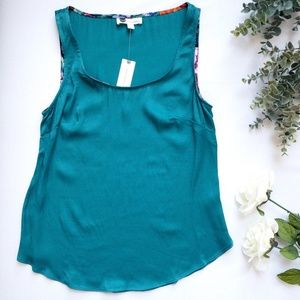 NWT Anthropologie Floreat Silky Teal Tank